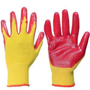 Перчатки нейлоновые с нитриловым покрытием, цена без НДС