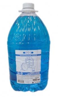 СРЕДСТВО чистящее С-3 для стекол, зеркал и изделий из хрусталя, 5000 мл.Цена без НДС.