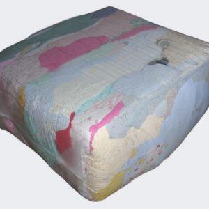 Ветошь трикотаж, светлый, х/б 100%,майки футболки, цветные (желтые, голубые, розовые). Цена без НДС.