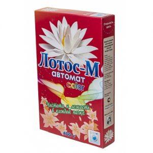 СТИРАЛЬНЫЙ ПОРОШОК «ЛОТОС-М» АВТОМАТ-КОЛОР 400 г, цена без НДС