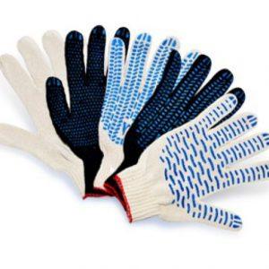 Перчатки трикотажные с ПВХ покрытием и без