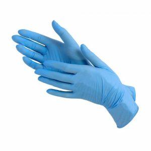Перчатки нитриловые, размеры:М, L, XL. Цвет:голубой, синий, черный . Цена без НДС