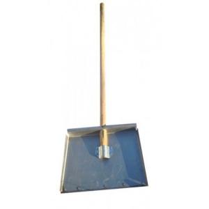 Лопата снеговая3-х бортная оцинкованная с планкой и деревянным черенком, 500*375 см. Цена без НДС